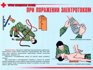 Оказание первой медицинской помощи при попадании человека под электрический ток