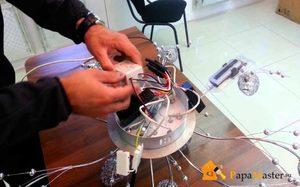 Правильный ремонт люстры с пультом управления