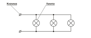 Схема люстры с тремя лампами