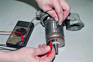 Проверка якоря электродвигателя