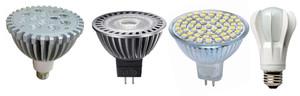 Формы и размеры светодиодных ламп