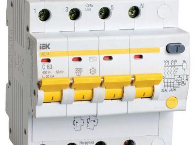 Номиналы автоматических выключателей по току