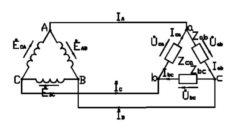 Соединительная схема треугольник