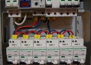 Дифференциальные автоматические выключатели в электрощитке