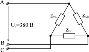 Резисторные цепи в треугольник