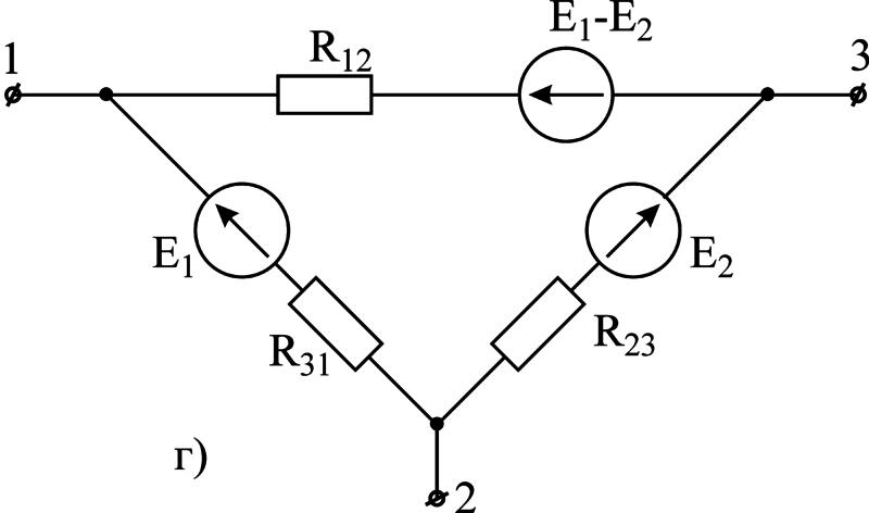 Треугольник резисторные цепи схема