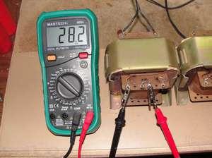 Проверка трансформатора мультиметром