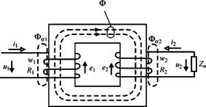 Принцип действия однофазного трансформатора